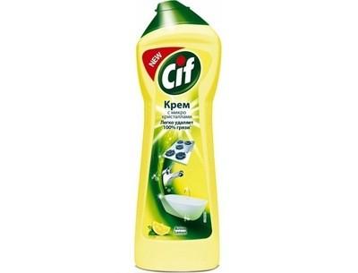 Универсальный чистящий крем Cif Active Lemon (Сиф Актив Лимон) 250мл