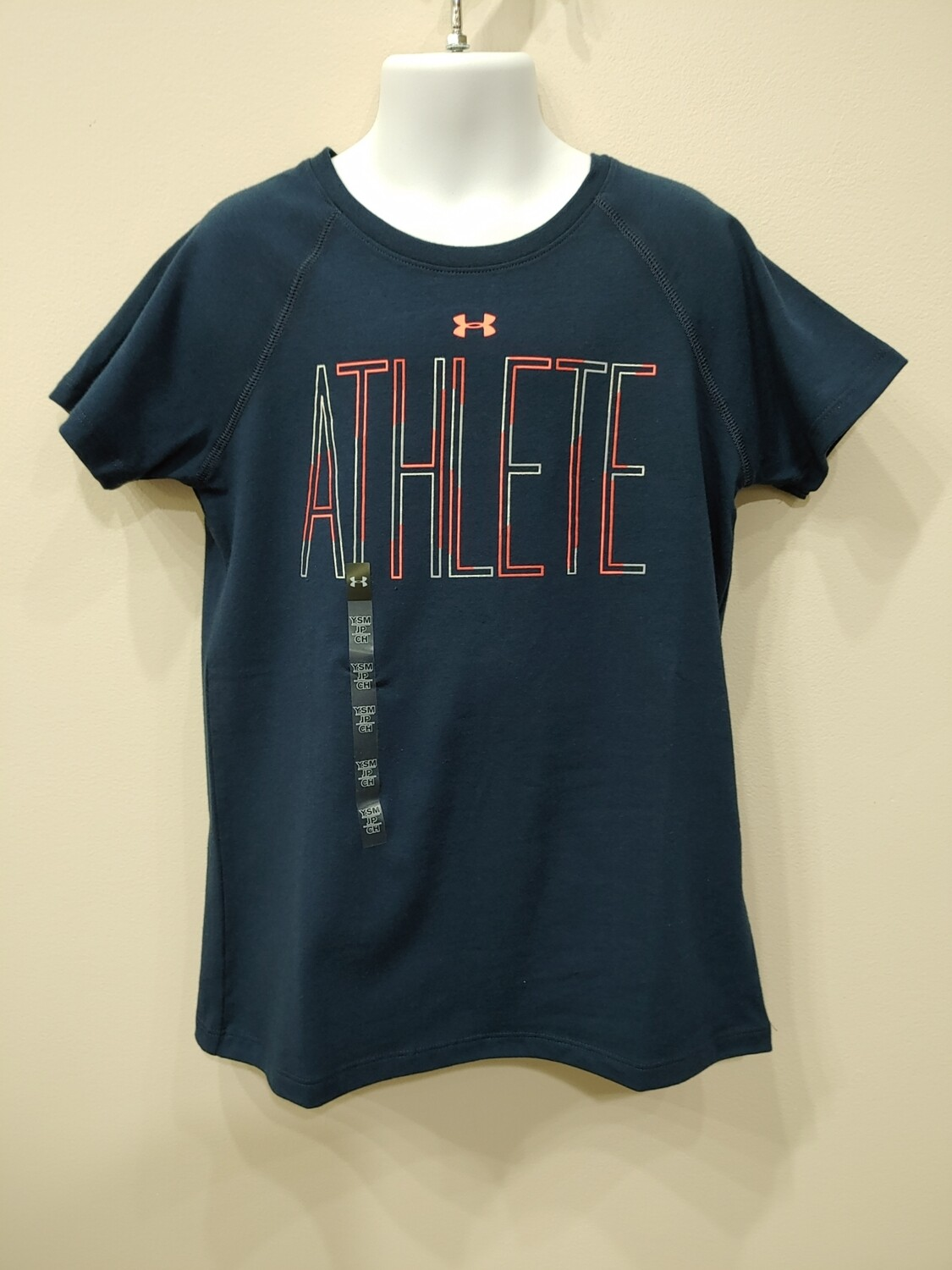 UNDER ARMOUR -YS T-NAVY ATHLETE