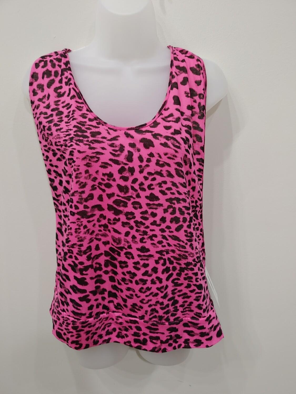 Pink & Black cheetah print tank