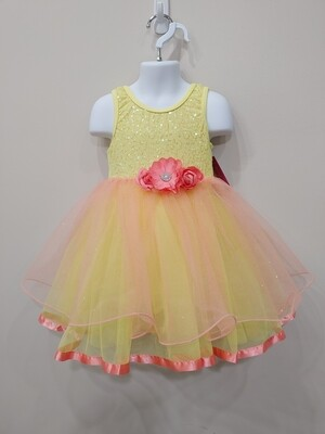 Yellow & Pink dance costume