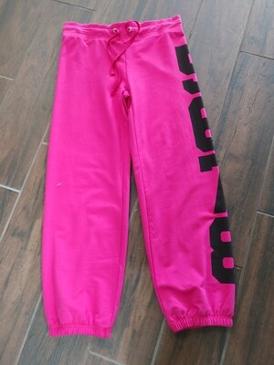 Pink warm up pant with