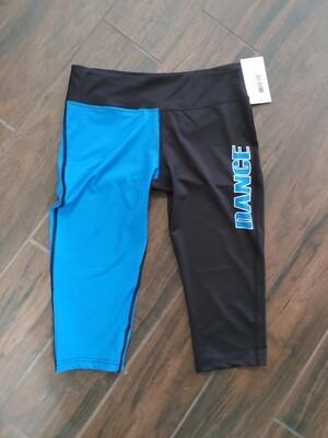 Black & Blue capri leggings