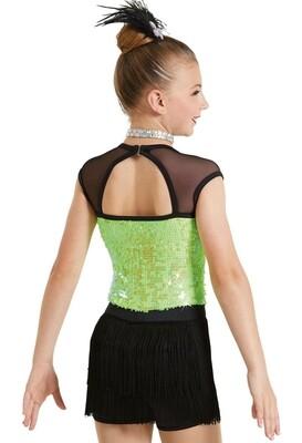Weissman Lime Green Dance Costume