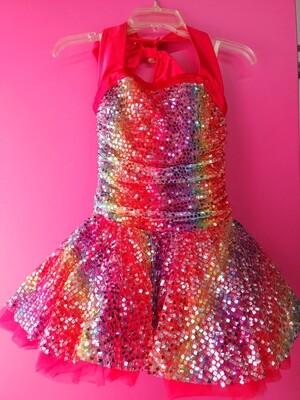 Rainbow halter costume