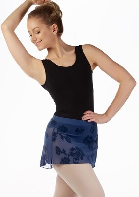 Mirella Floral Flocked Mesh Skirt