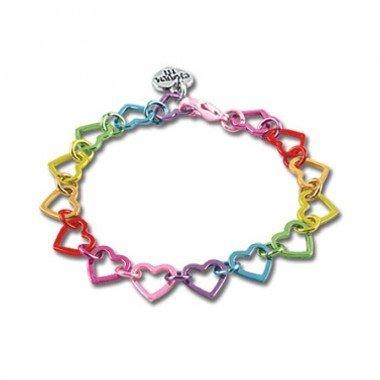 CHARM IT! Rainbow Heart Link Bracelet