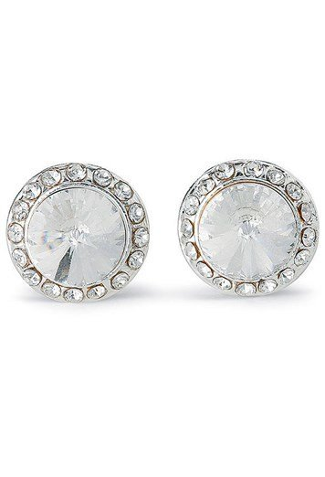 Rhinestone Post Earrings