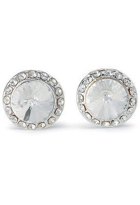 Rhinestone Clip On Earrings