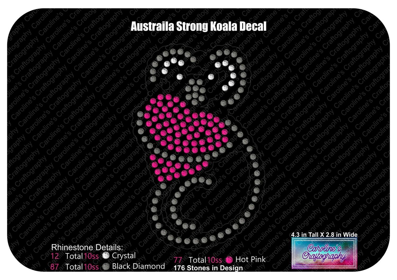 Koala Heart Decal - Australia