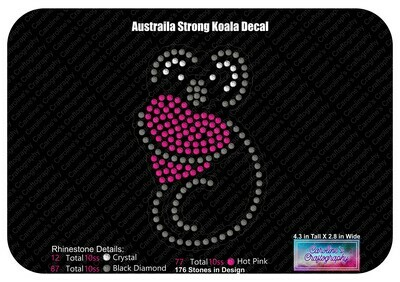Koala Heart Decal - Australia