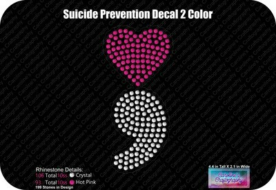 Suicide Prevention Heart LVE Add-on and Decal (2 Color)