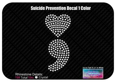 Suicide Prevention Heart LVE Add-on and Decal (1 Color)