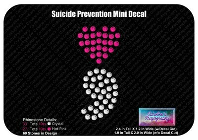 Suicide Prevention Heart Mini Decal (2 Color)
