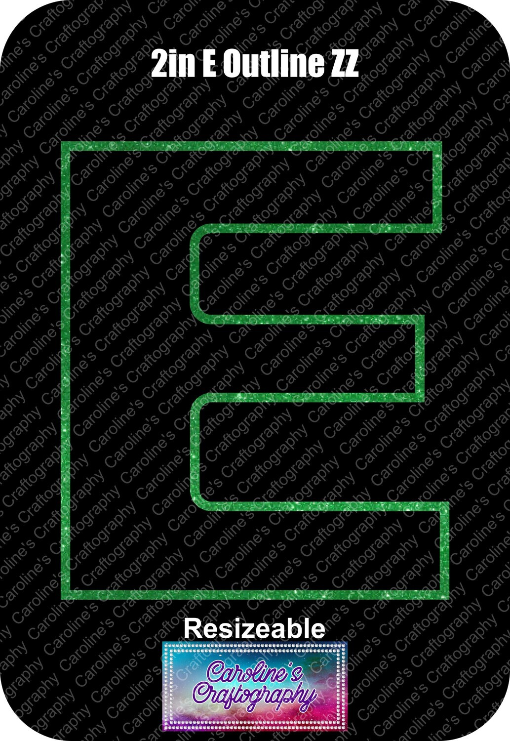 Letter E 2in Acrylic Download