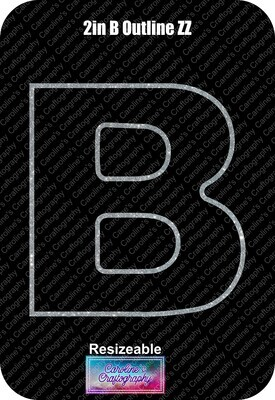Letter B 2in Acrylic Download