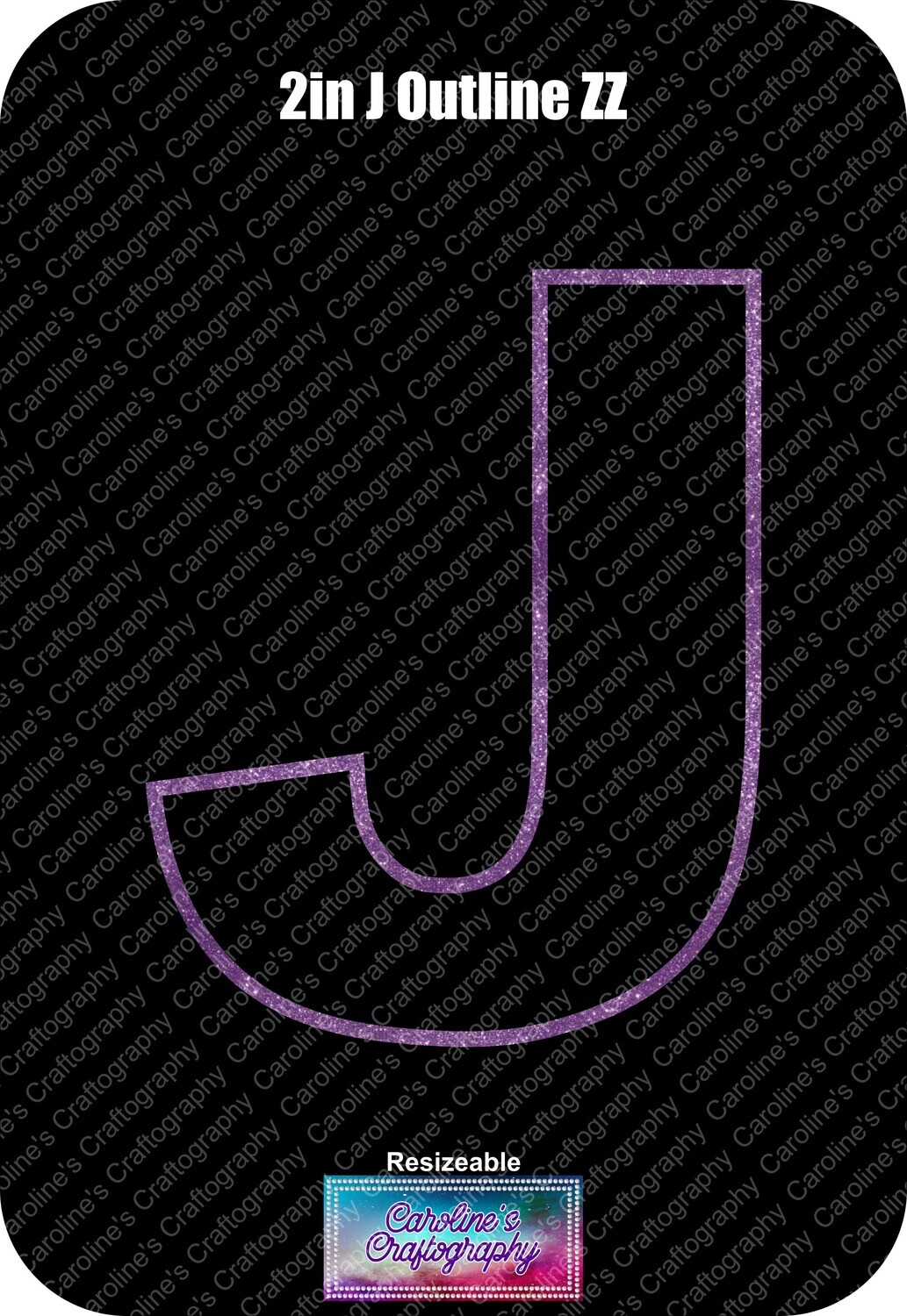 Letter J 2in Acrylic Download