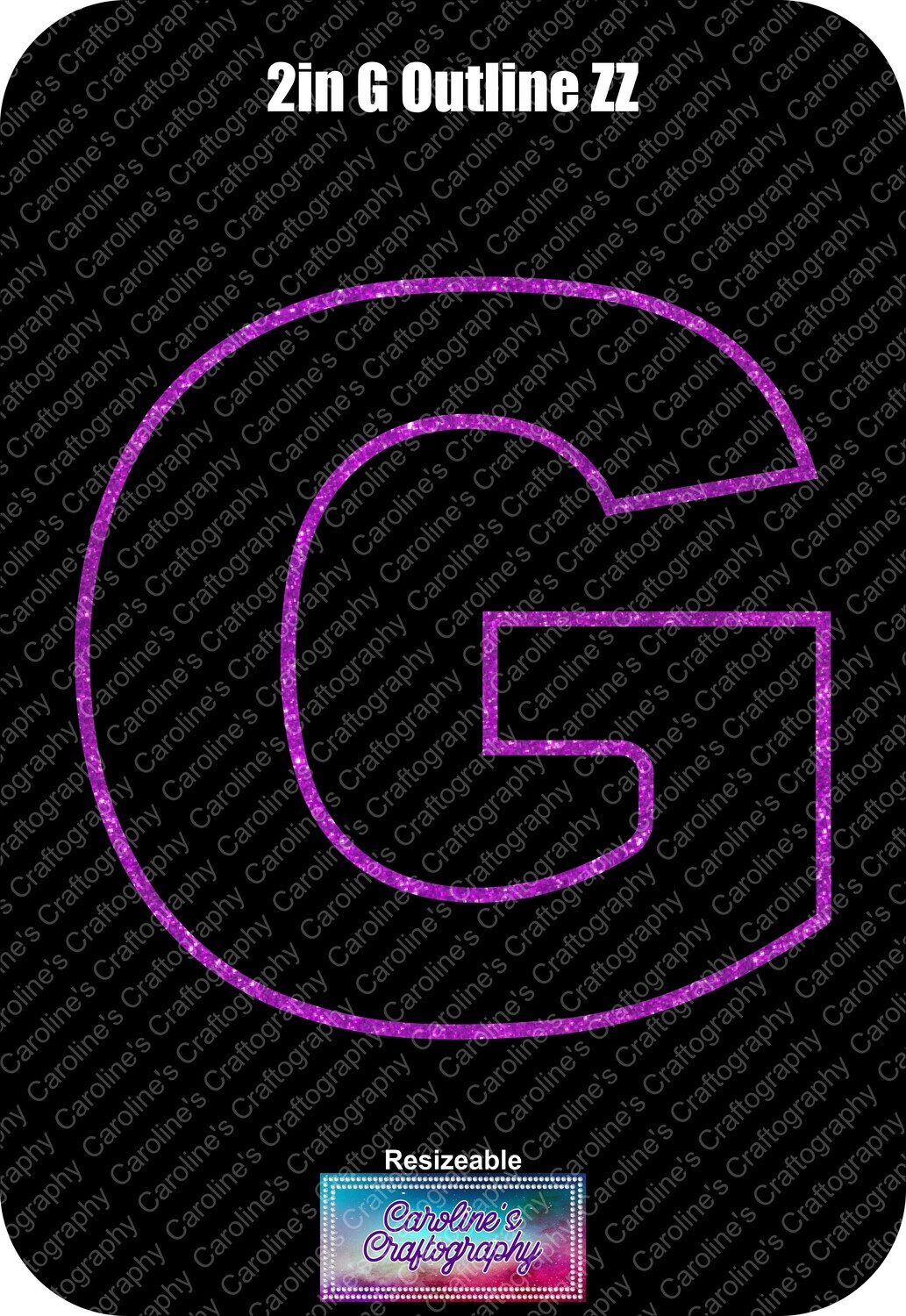 Letter G 2in Acrylic Download