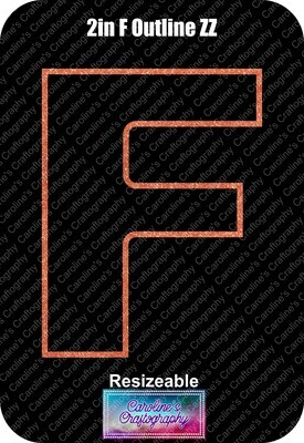Letter F 2in Acrylic Download