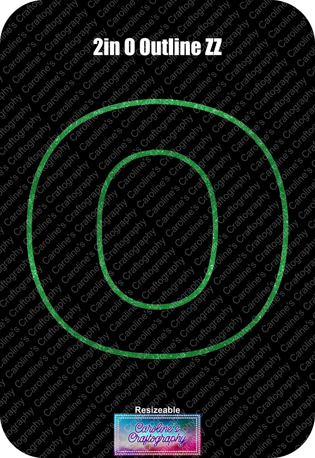 Letter O 2in Acrylic Download