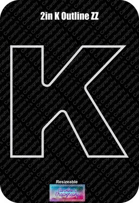 Letter K 2in Acrylic Download