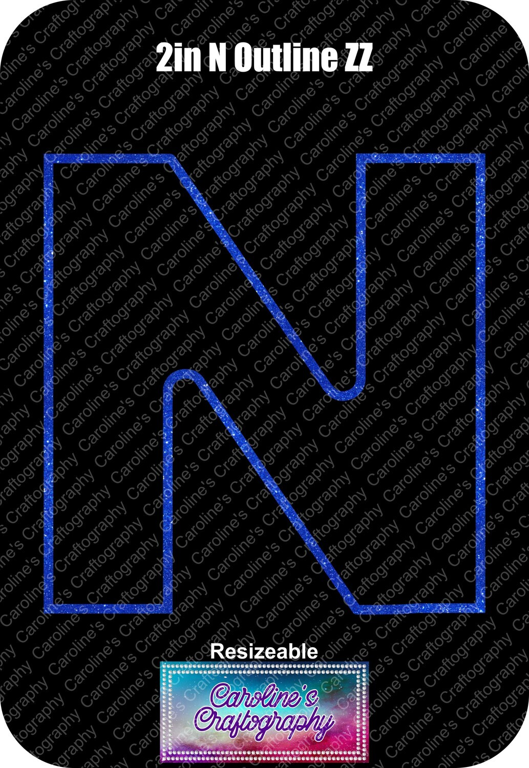 Letter N 2in Acrylic Download
