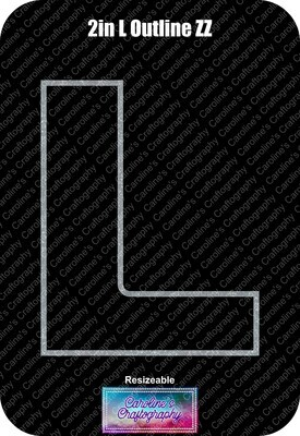 Letter L 2in Acrylic Download
