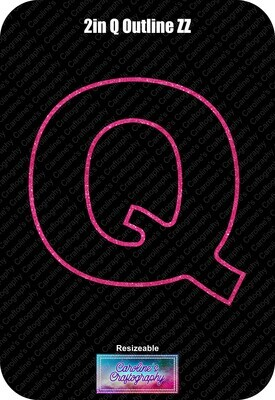 Letter Q 2in Acrylic Download