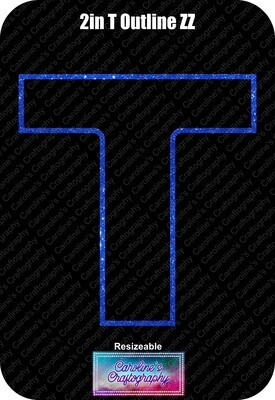 Letter T 2in Acrylic Download