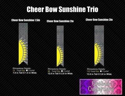 Sunshine Trio Cheer Bow Bundle