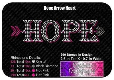 Hope Arrow Heart Stone