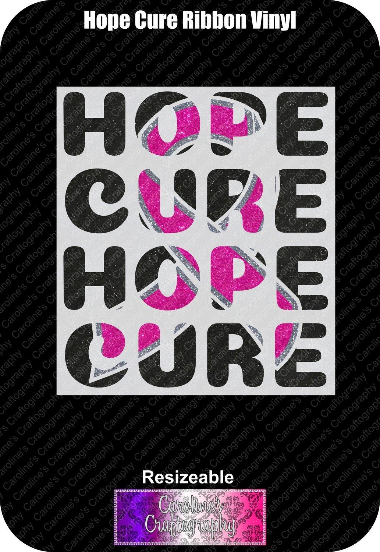 Hope Cure Ribbon Vinyl