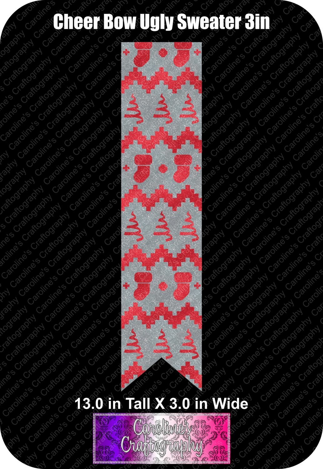 Ugly Sweater 3in Cheer Bow Vinyl