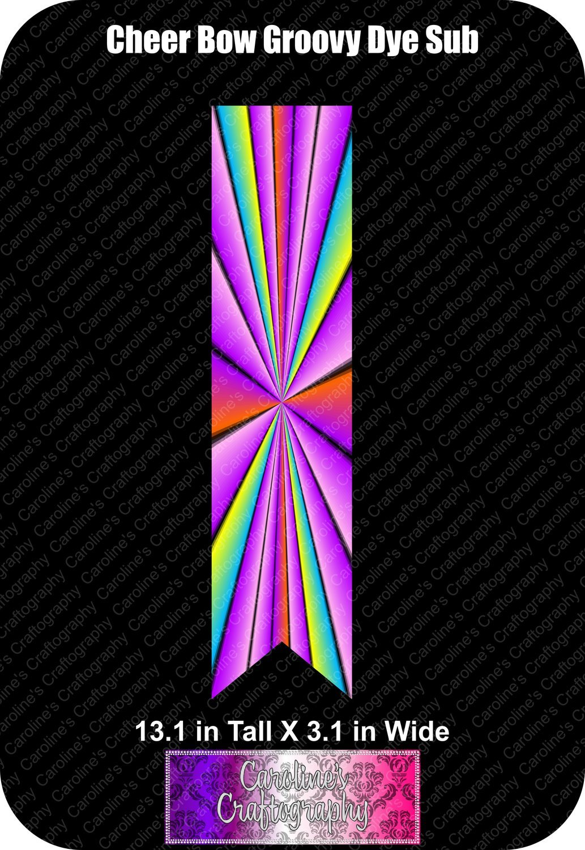 Groovy Dye Sub 3in Cheer Bow