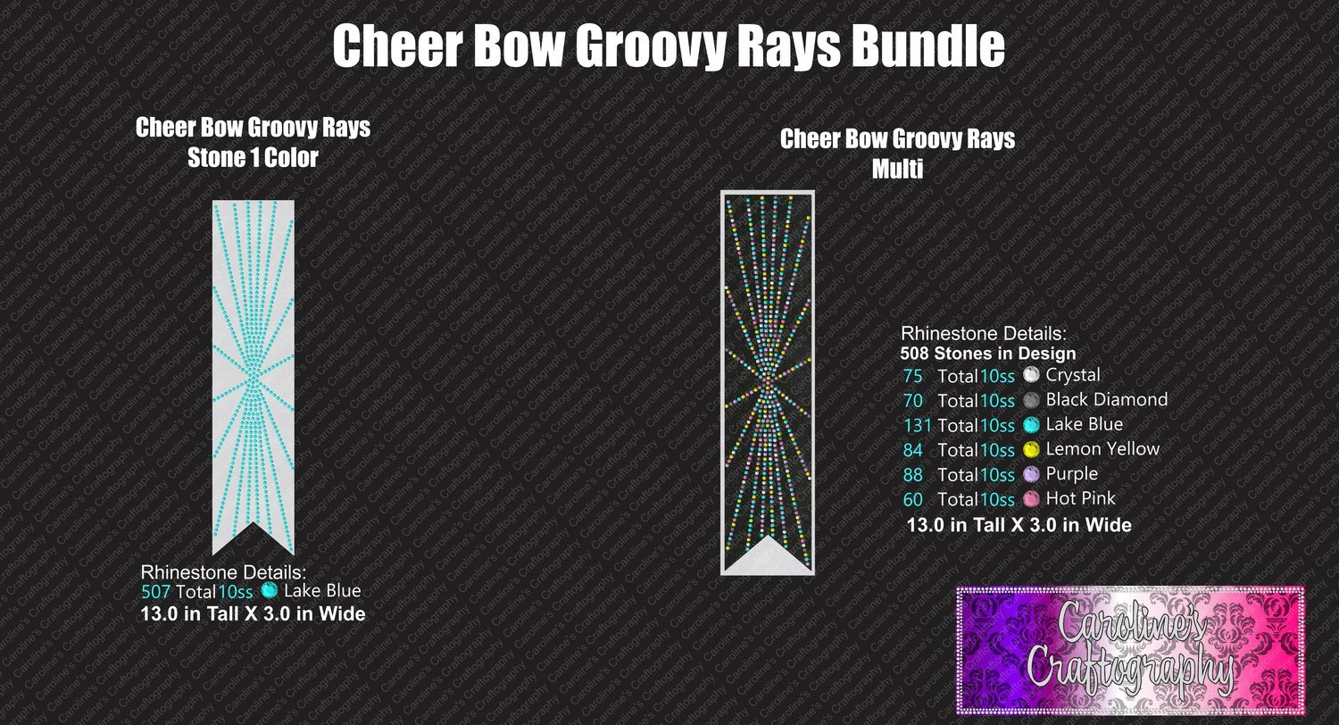 Groovy Rays 3in Cheer Bow Bundle