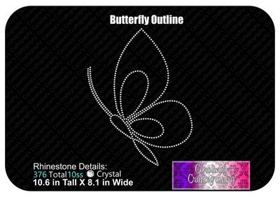 Butterfly Outline Stone