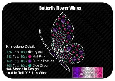 Butterfly Flower Wing Stone