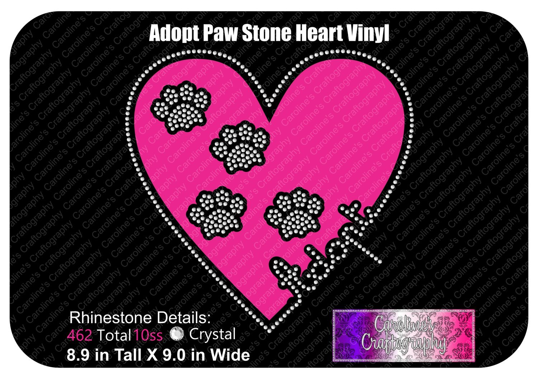 Adopt Paws Stone Heart Vinyl