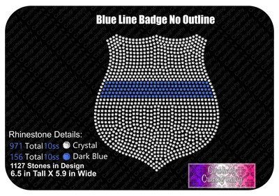 Blue Line Badge Stone No Outline
