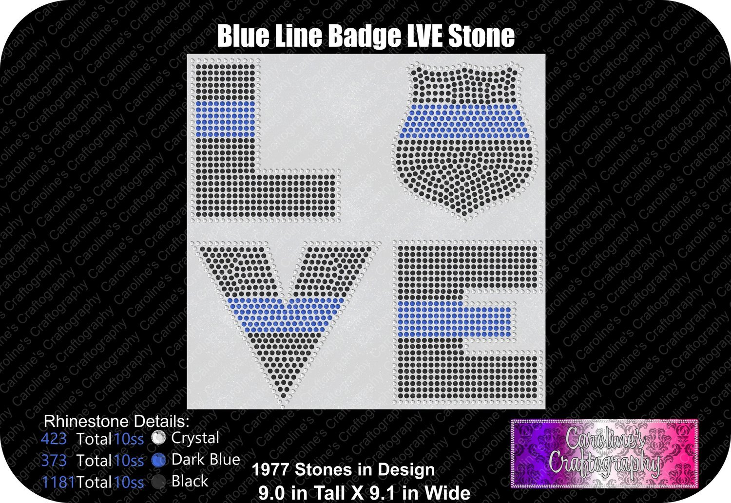 Blue Line Badge LVE Stone