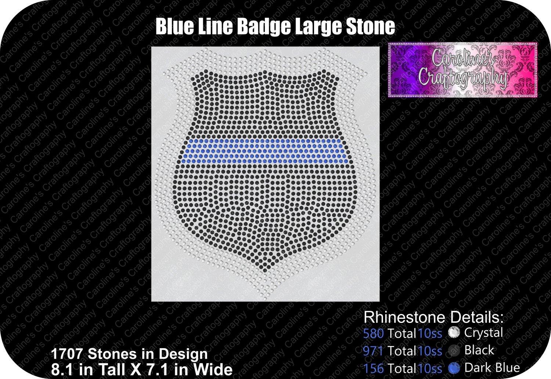 Blue Line Badge Large Stone