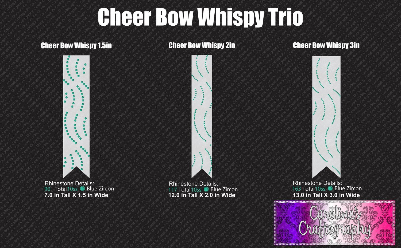 Whispy Cheer Bow Stone Trio