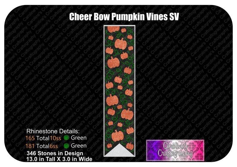 Pumpkin Vines Stone Vinyl 3in Cheer Bow