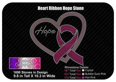 Heart Ribbon Hope Stone
