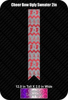 Ugly Sweater 2in Cheer Bow Vinyl