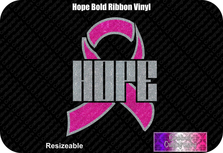 Hope Ribbon Bold Vinyl