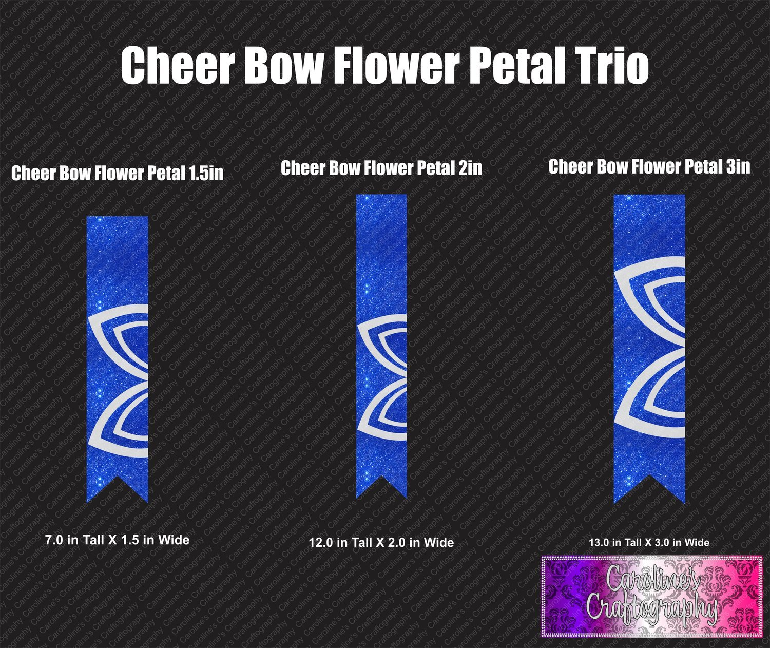 Flower Petal Cheer Bow Trio