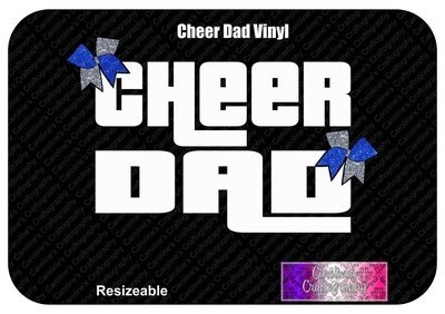 Cheer Dad Bows Vinyl