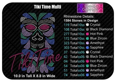 Tiki Time Stone Multi Color