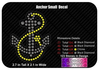 Anchor Small Stone Decal
