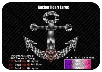 Anchor Heart Stone Large